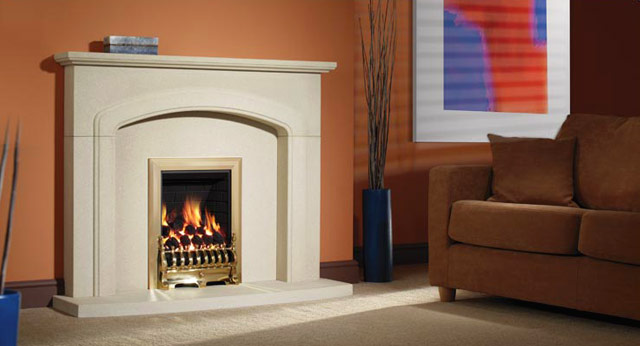 Auckland Stone Fireplace