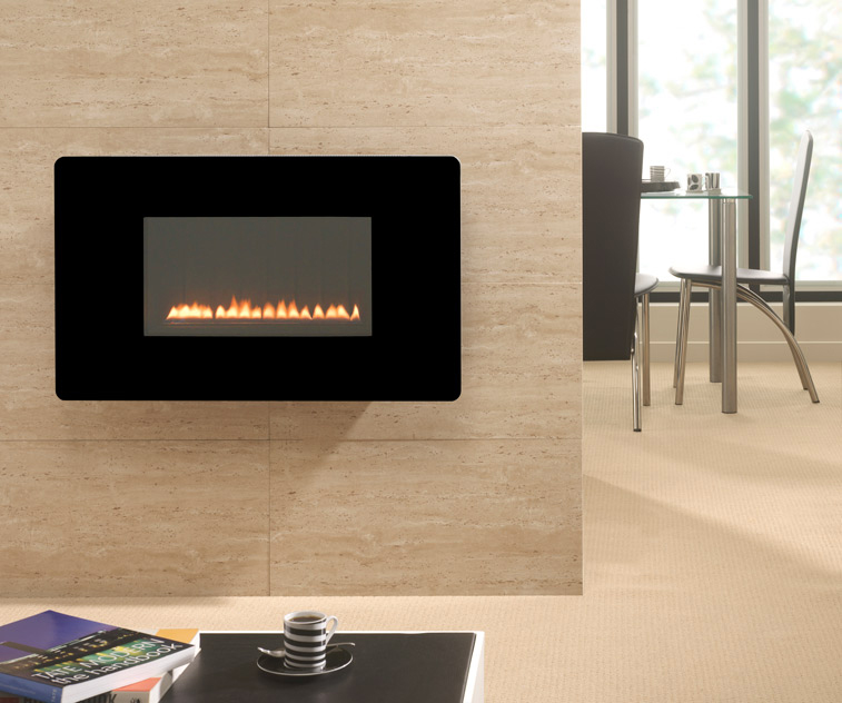 The Escape Wall Mounted Flueless Gas Fire