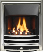 Open Fronted Convector Gas Fire - Aurora Chrome Frame