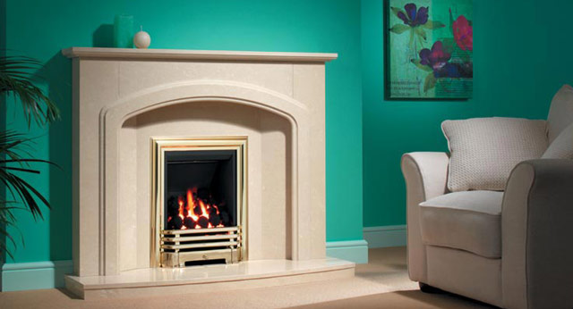 Tamora Marble Fireplace